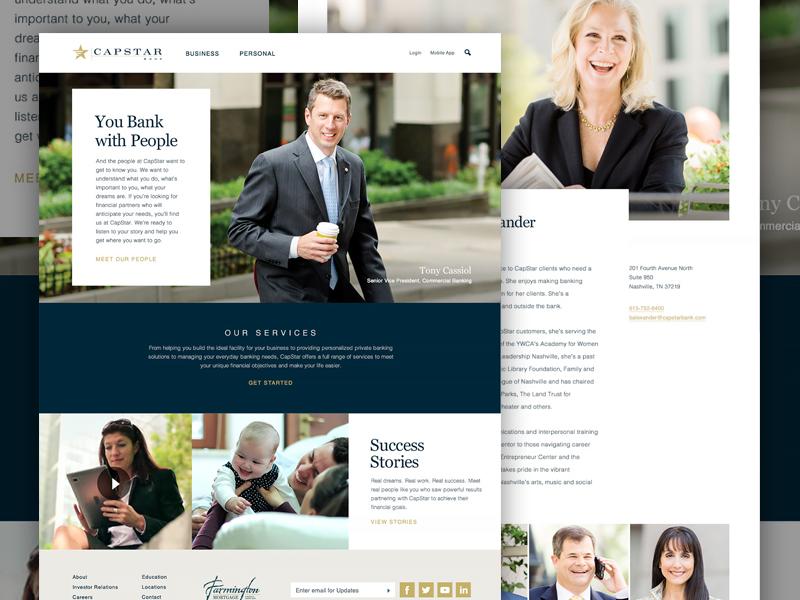 CapStar Bank paramoredigital paramore client service brand banking redesign website design nashville bank capstar
