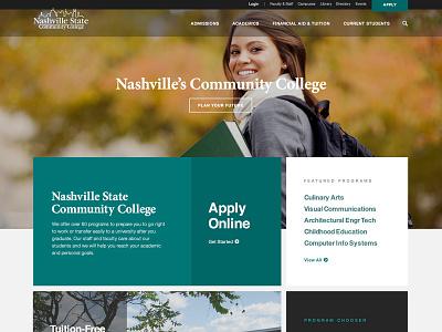 NSCC brand online website redesign college community state nashville nscc