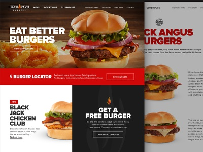Back Yard Burgers paramoredigital paramore agency backyard burgers backyardburgers byb brand redesign website
