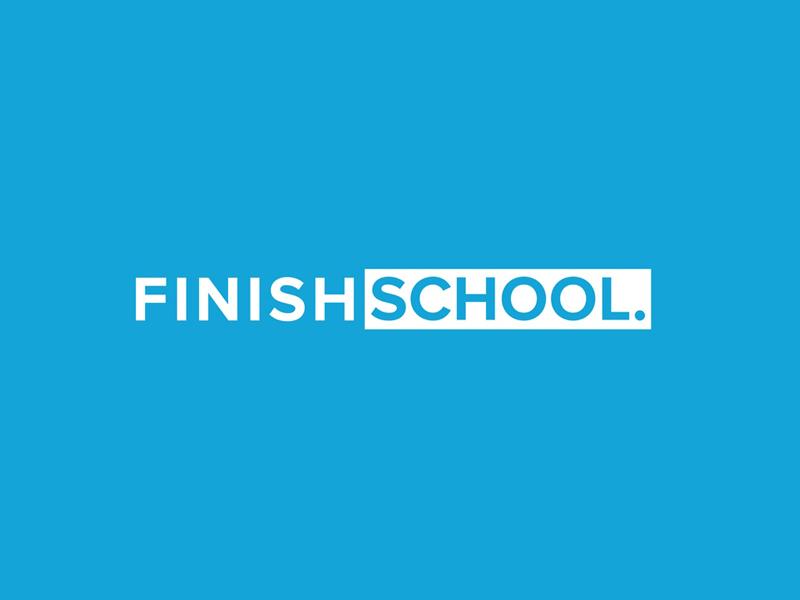 Finish School identity brand paramoredigital paramore agency client student school finish school