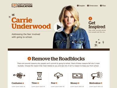 CMT empowering education cmt client comp site homepage design carrie underwood