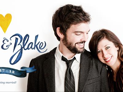 Julie & Blake wedding site love marriage julie blake us design