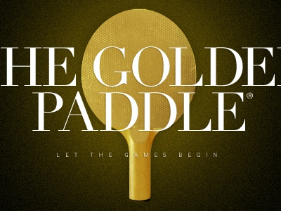 Golden Paddle® golden paddle ping pong paramore agency office games fun