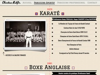 Boxing champion's website