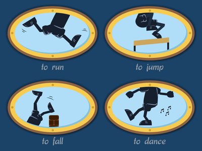 Verbs for a Kids Game 02
