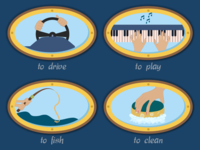 Verbs for a Kids Game 03