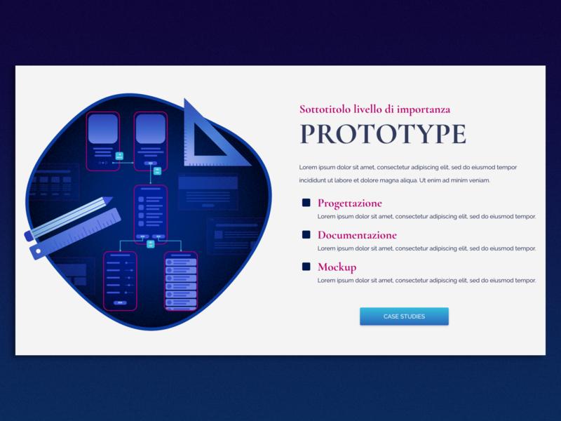 Prototype ui design icon illustration blue ui  ux documentation mockup prototype services new website