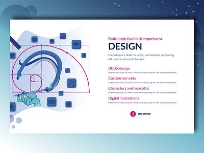 Our Services - Design hand golden ratio charachter design icon sets typography icon design vector website ux ui blue illustration