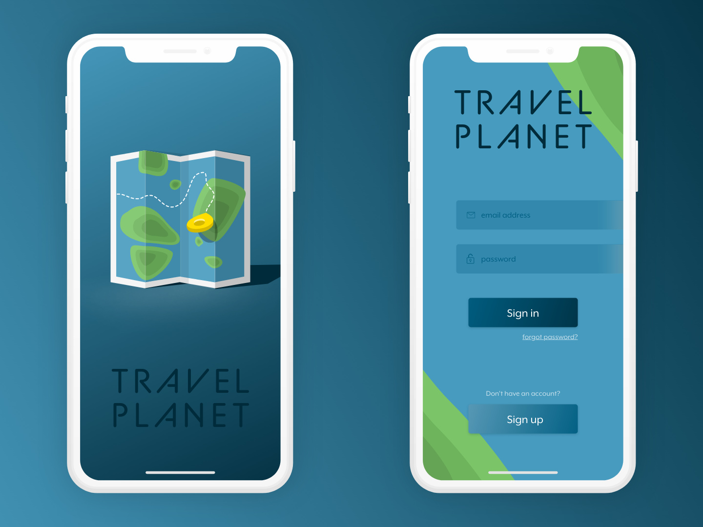 Splash screen and login view map creativechallenge travel app mobile ui experience design adobe adobexd