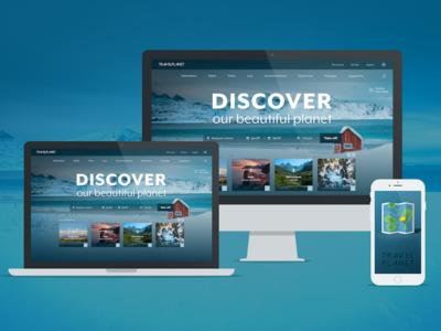landing page travel app