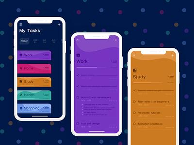 todolist concept concept mobile ui habits ux ui xd checklist todo task list experiencedesign adobexd xddailychallenge