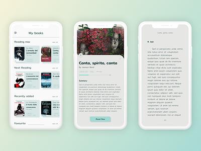 e-reder app - concept mobile ui concept experiencedesign adobexd xddailychallenge books reading e-reader