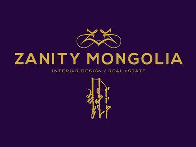 Zanity Mongolia gold interior design real estate logo