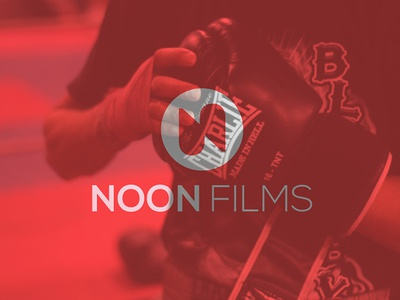 Noon films n round red fighter barcelona film production logo