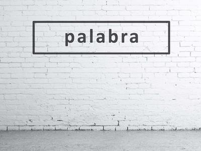 Palabra rectangle calibri black and white tshirts clothing logo