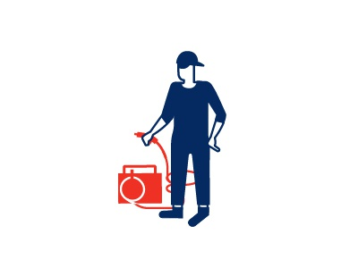 guy man red blue cup guy character isotype