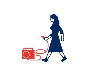 girl woman red blue tool girl character isotype
