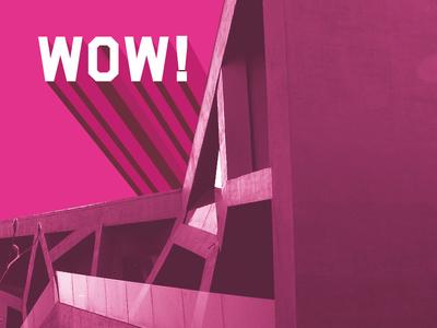Fudación COAM 3d magenta architecture flyer