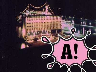 Fudación COAM pink architecture flyer