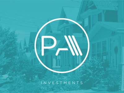 prime assets logo real estate green investments circle monogram logo