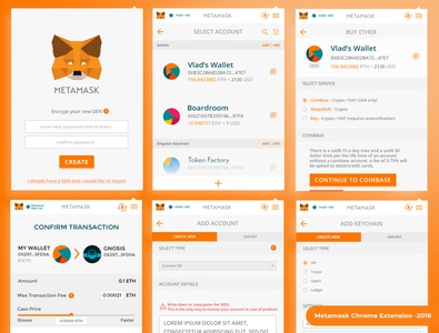 Metamask Chrome Extesion - 2016 app chrome extension web ux ui icon blockchain