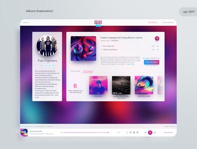 Ujo Music album player music user interface web webapps website logo branding ux ui