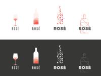 rosè wine logo draft