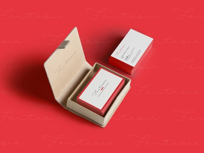 Business Card design red businesscard