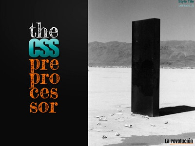 The CSS preprocessor