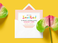 Coloured Vector Font for Invites