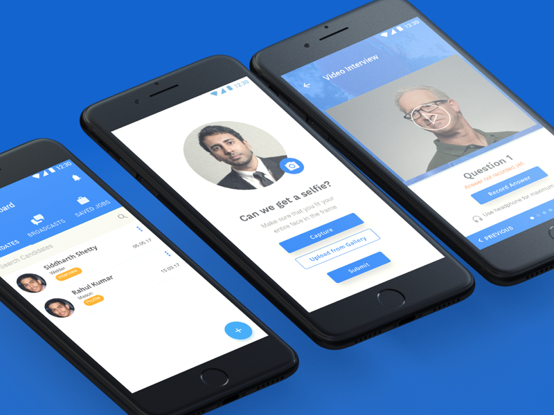 Mobile App - Job Portal by Kaustubh Adhav on Dribbble