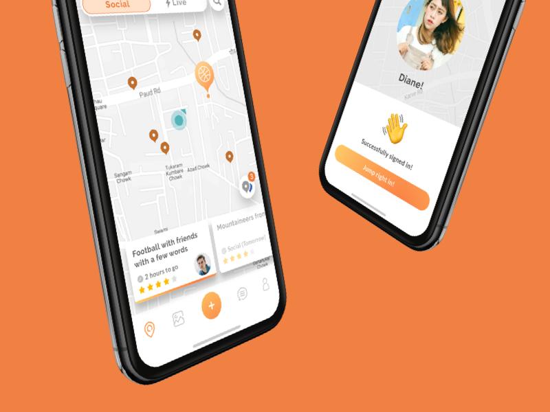 Homescreen & Welcome message interaction design emoji character typography social map hyperlocal icon website app mobile vector ux illustration design ui