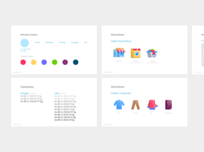 Styleguide - Laundry App guide branding styleguide laundry typography web flat icon website app mobile vector ux illustration design ui bright graphic