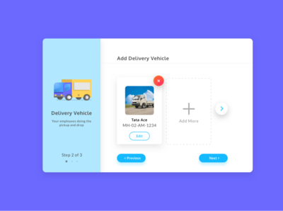 Add Delivery Vehicle - Laundry App vehicle delivery laundry typography web flat icon website app mobile vector ux illustration design ui bright graphic
