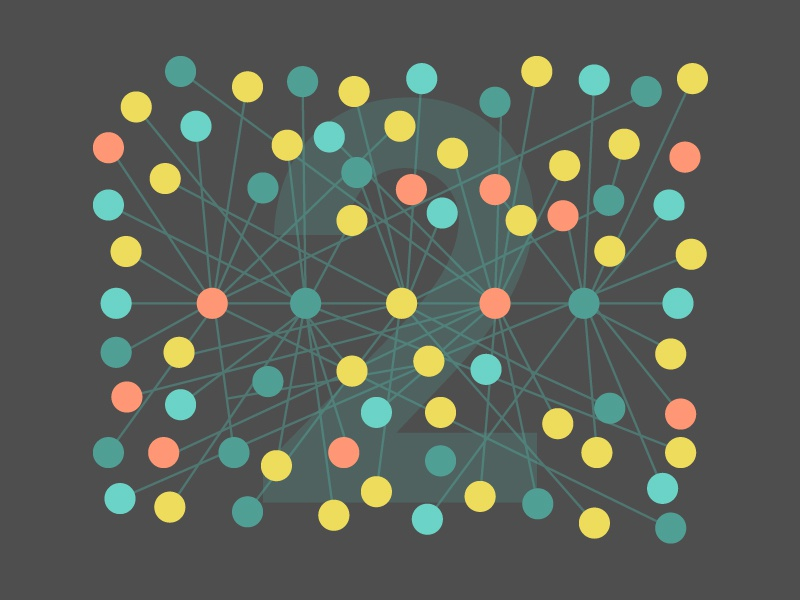 Two Degrees of Separation  network web degrees of separation vector illustration flat