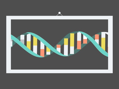 Tribute to Odile Crick dna science double helix flat
