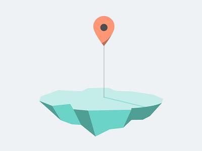 Google Islands google floating island marker illustration vector