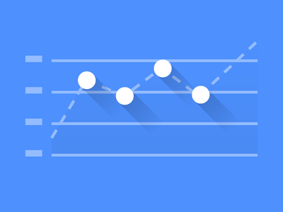 Line Chart with Dots line chart flat diagram dots dashed line chart
