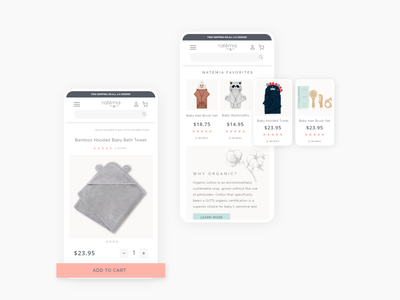 E-commerce website ui/ux design online store online shop shopify baby products baby clothes adobexd webdesign ui uiux colors ecommerce