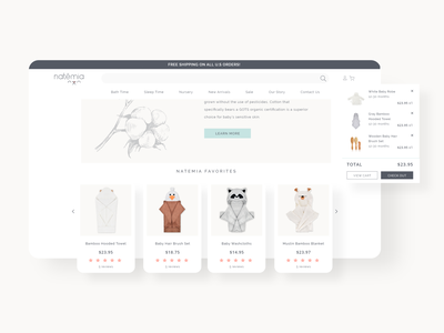 E-commerce website Ui/Ux design shopify onlineshopping shopping userinterface uidesign baby products baby clothes colors adobexd ui uiux webdesign ecommerce