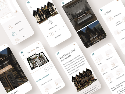 Website Design for hotel apartments mobile ui real estate apartment apartments hotel houses design webdesign userinterface uidesign adobexd ui uiux
