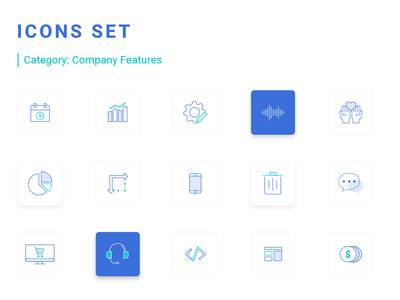 Icons set for a website icon website design features iconset icons webdesigner dashboard design illustration webdesign userinterface uidesign adobexd uiux ui