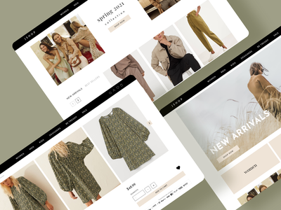 E-commerce website design online store ecommerce webdesign userinterface uidesign adobexd uiux ui