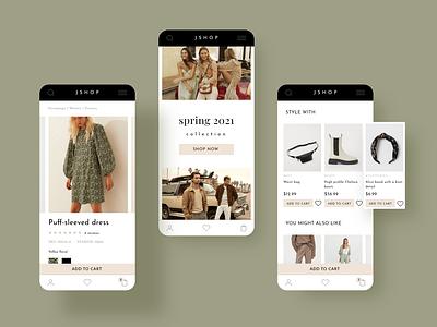 Online shop interface design mobile ui shopping ecommerce webdesign userinterface uidesign adobexd uiux ui