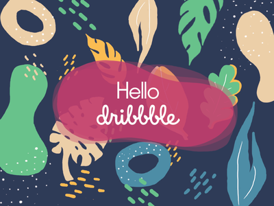 Hello Dribbble! :) illustration hellodribbble colors plants firstshot