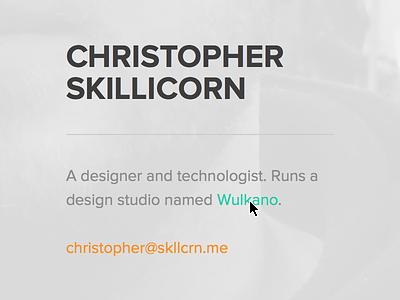 SKLLCRN  minimalistic portfolio personal responsive web