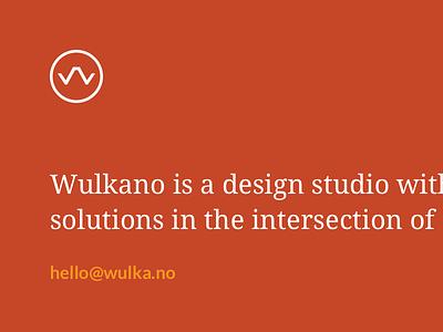 Wulkanik studio minimalistic responsive web portfolio