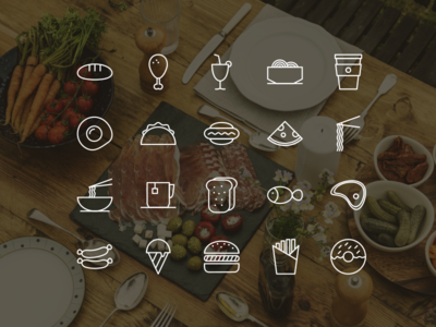 Food icon set meal icon meal food logo kitchen icon restaurant icon line icon eat icon set food food icon