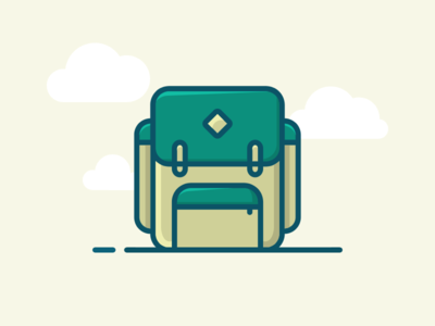 Backpack filled outline icon simple illustration gravit designer filled icon icon backpack icon school icons school backpack