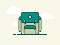 Backpack filled outline icon